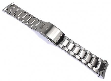 Casio Uhrenarmband Edelstahl Band Silberfarben 22mm für EFA-133 EFA-133D