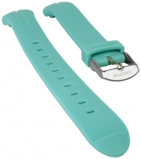 Calypso Watches Uhrenarmband Kunststoff Band glatt türkis weich für Modell K5727/3