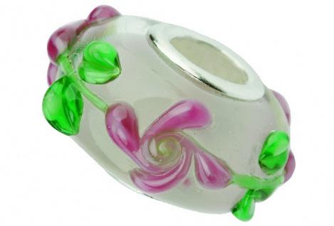 Charlot Borgen Marken Damen Bead Beads Drops Kristallglas Silberkern GPS-49Pink