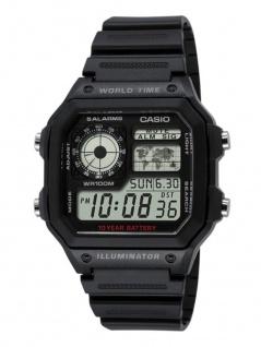 Casio Collection Herrenuhr Armbanduhr Resin Uhr Digitaluhr schwarz AE-1200WH-1AVEF