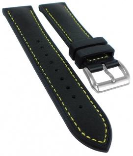 Herzog 3M Scotchg.- Rubber Ersatzband 22mm schwarz Materialmix gelbe Naht