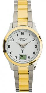Adora Funk Damen bicolor Ø 29mm Quarz Edelstahlgehäuse Armbanduhr 5 BAR Analog