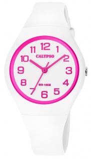 Calypso K5777 Armbanduhr Kinder analoge Quarzuhr Kunststoff weiß Uhr K5777/5