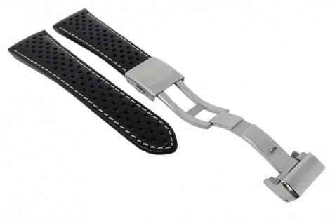 Citizen Uhrenarmband - Ersatzband aus schwarzem Leder mit Lochmuster 23mm - für Promaster Herren AS4020-36E