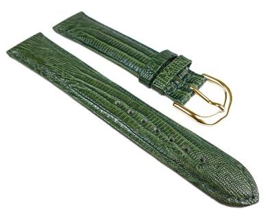 Eichmüller Lederband mit Eidechsprägung | grün mit Naht | Nubuk-Unterseite 25100