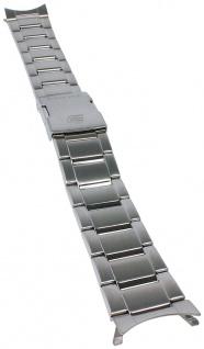 Casio Armband   Uhrenarmband Edelstahl Band Silberfarben für Edifice ERA-500D ERA-500DB
