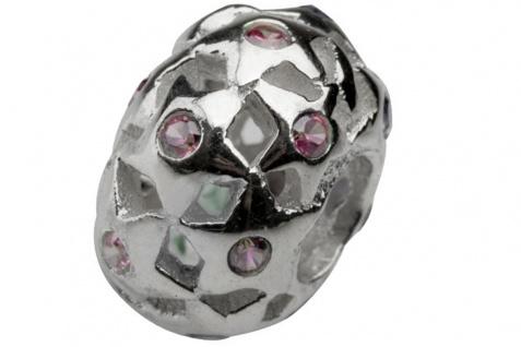 Charlot Borgen Marken Damen Bead Beads Drops Silber mit Zirkonia SCZ-23-Rosa