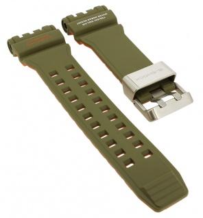 Casio G- Shock Gravitymaster Ersatzband grün Resin Band Schließe silbern GPW-1000KH GPW-1000KH-3A