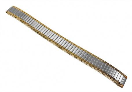 Minott Flex Band Uhrenarmband Edelstahl Zugband Bicolor 22861