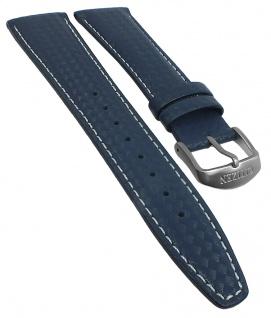 Citizen Eco Drive Chrono Street Ersatzband 22mm Leder blau Kontrastnaht CA0360
