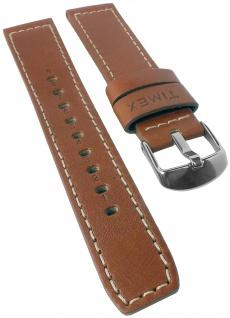Timex | Ersatzband Uhrenarmband Leder Band braun 20mm mit heller Nath TW2P84000 TW2P83900 TW2P83800