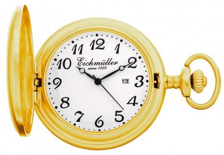 Eichmüller Taschenuhr Kette Analog Datumanzeige Sackuhr Quarz gelbgoldfarben glänzend 35164