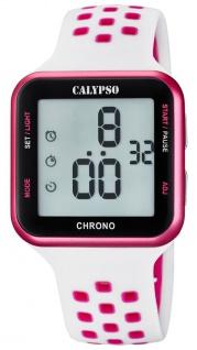 Calypso Armbanduhr digital Quarzuhr Kunststoffuhr mit Alarm Stoppfunktion Timer digital K5748/1 - Vorschau