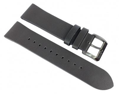 Hugo Boss Architectural Ersatzband grau 22mm Leder Band glatt 1513570