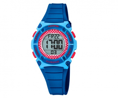 Calypso Kinderarmbanduhr blau/rot Quarzuhr Digitaluhr Kunststoff Band K5756/8