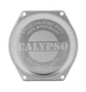 Calypso Bodendeckel silberfarben Edelstahl Gehäusebodendeckel K5634
