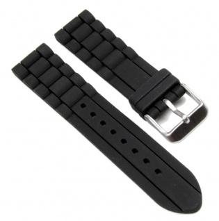 Minott Uhrenarmband Silikon Band schwarz 18mm 19644S