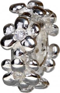 Charlot Borgen Marken Damen Bead Beads Drops Silber mit Zirkonia SCZ-25-Weiß