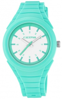 Calypso Damenarmbanduhr Quarzuhr Kunststoffuhr mit Polyurethanband analog K5724