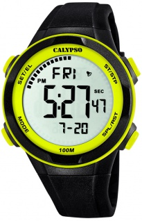 Calypso digitale Armbanduhr | Kunststoffgehäuse & Band > schwarz | Datum > Alarm K5780/1