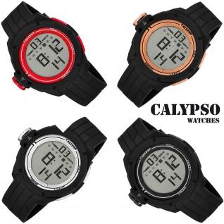 Calypso Herrenarmbanduhr Kunststoffuhr mit Polyurethanband Alarm digital K5657