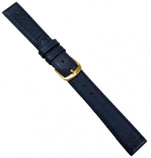 Hirschleder Uhrenarmband Ersatzband Leder Dunkelblau Handgenäht 20687G