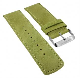 Bruno Banani Big Square Ersatzband 26mm in grün glatt aus Leder SQ4 BR20687 BR20686