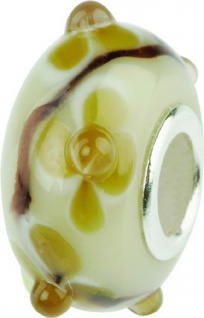 Charlot Borgen Marken Damen Bead Beads Drops Kristallglas Silberkern GPS-46Beige
