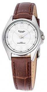 Eichmüller Damenuhr analoge Uhr Lederband braun Armbanduhr 3ATM Quarzwerk