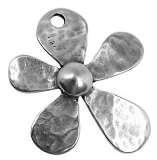 Minott Schmuck Anhänger Blüte | Messing, versilbert im Used Look 41987