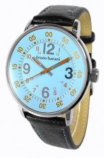 Bruno Banani Moros Armbanduhr Lederband schwarz 3ATM Herrenuhr Analog Quarz BR30012