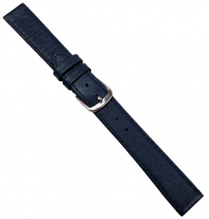 Hirschleder Uhrenarmband Leder Ersatzband Dunkelblau Handgenäht 20688S