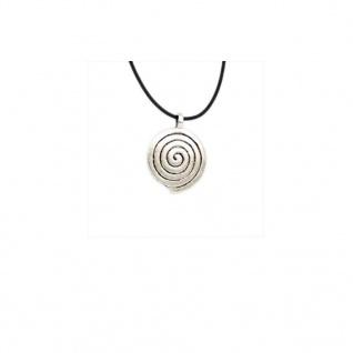 Minott Damen Halskette, schwarzes Lederband mit Metallanhänger, Lederband zum verknoten MT-02464