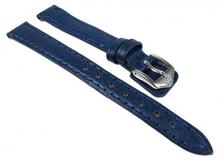 Schok Uhrenarmband Büffelleder Band Blau 24348S