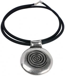 Minott Damen Halskette Kautschuk Band Anhänger 50cm