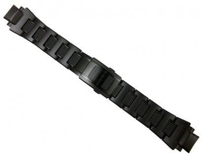 Casio Uhrenarmband 22mm Resin/Edelstahl Band schwarz GW-A1100 GW-A1100FC GW-A1000