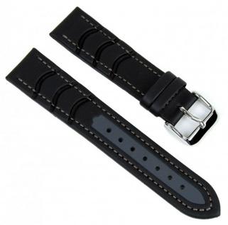 Minott Uhrenarmband Surfer Wasserfestes Band schwarz-grau 18mm