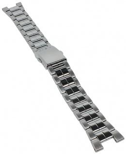 Casio Armband | Uhrenarmband Edelstahl Band Silberfarben für Collection LTD-2000D