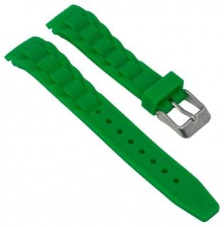 s.Oliver Uhrenarmband Silikon Band sehr weich 20mm grün SO-2315-PQ
