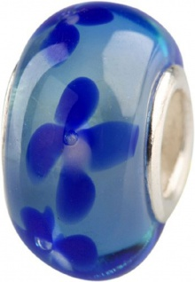 Charlot Borgen Marken Damen Bead Beads Drops Kristallglas Silberkern GPS-40Blau