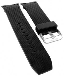Calypso Ersatzband schwarz Kunststoff Breitdornschließe silberfarben Spezial Anstoß K5705/1 K5705
