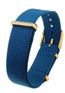 Timex Weekender Nato-Band 18mm blau Textil Metallschlaufen TW2R49300