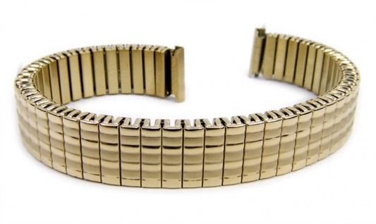 Minott Flex Band Uhrenarmband Edelstahl Zugband Goldfarben 12mm 21079