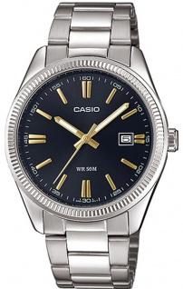 Casio Collection Herrenuhr Analoguhr Edelstahl MTP-1302PD-1A2VEF
