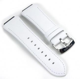 Police Sphere Uhrenarmband Leder Band Weiß für PL12096JS