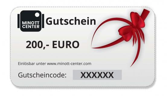 Minott Center   Geschenk-Gutschein im Wert von 200 Euro