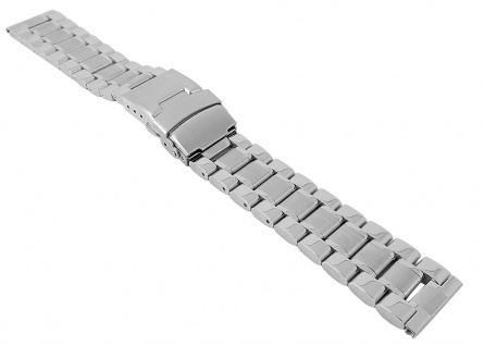 Minott Edelstahl Ersatzband - massiv, teils glänzend, teils matt - Faltschließe 29924