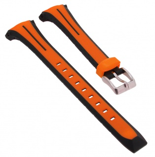 Calypso Sport Uhrenarmband Kunststoff Band orange mit Schließe silberfarben K5682/B