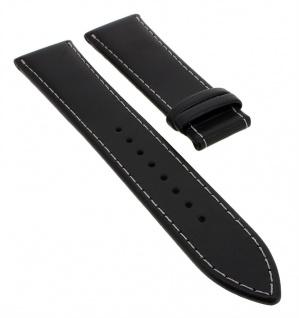 Junghans Mega XL | Ersatzband in Überlänge | weiches Leder, schwarz | für Anytime Racer Uhr 56/4800
