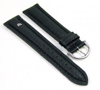 Maurice Lacroix Ersatzband Uhrarmband Leder Tiago schwarz 21725S